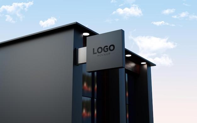 Maqueta de logotipo de edificio