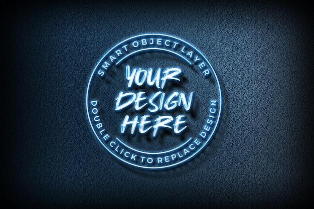 Maqueta de logotipo de efecto de texto en 3d