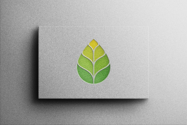 Maqueta de logotipo estilo 3d con papel blanco