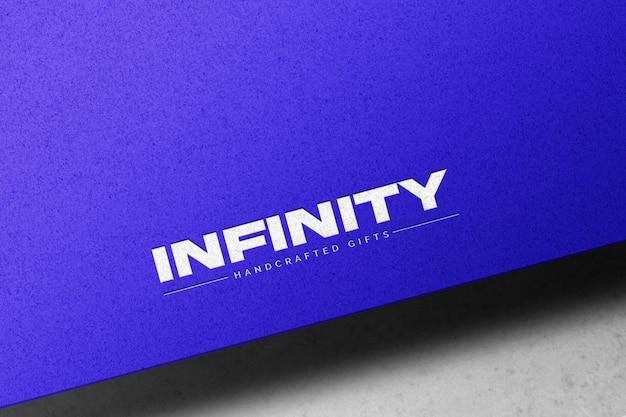Maqueta de logotipo grabado