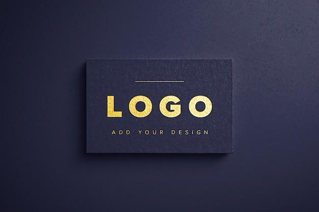 Maqueta de logotipo de lámina de oro