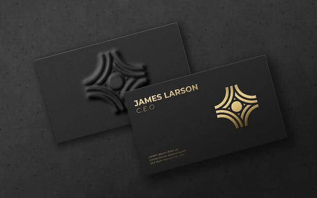 Maqueta de logotipo de lujo de tarjeta moderna 3d