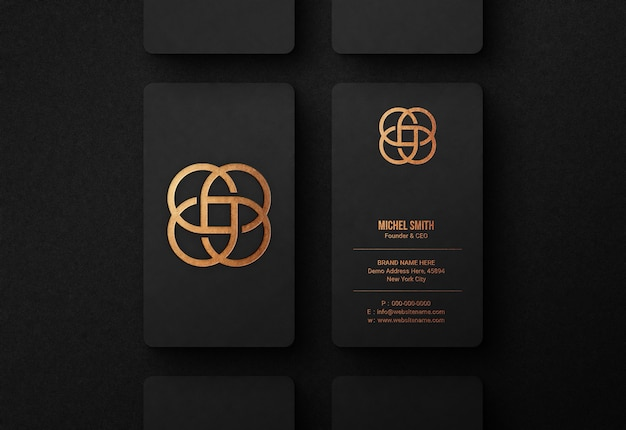 Maqueta de logotipo de lujo en tarjeta de visita