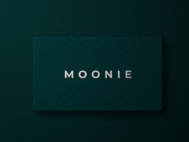 Maqueta de logotipo de lujo con textura dorada