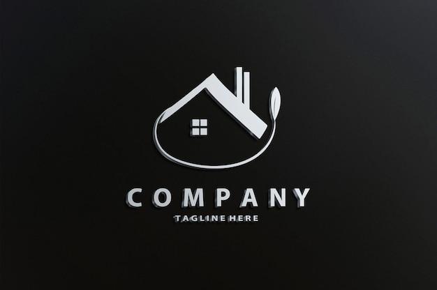 Maqueta de logotipo de lujo