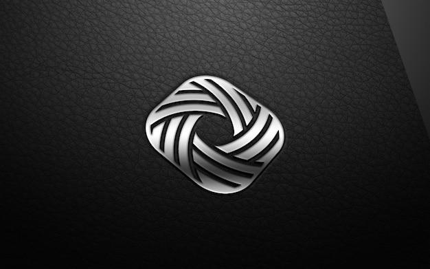 Maqueta de logotipo moderno 3d