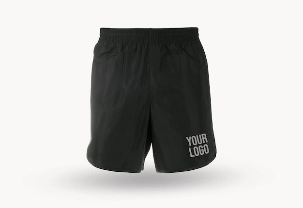 Maqueta del logotipo de pantalones cortos para correr