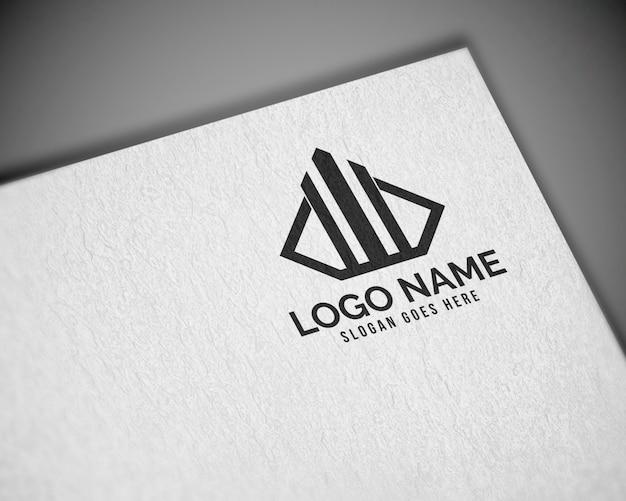 Maqueta de logotipo de papel realista 3d moderno