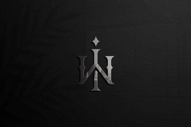 Maqueta de logotipo de pared brillante