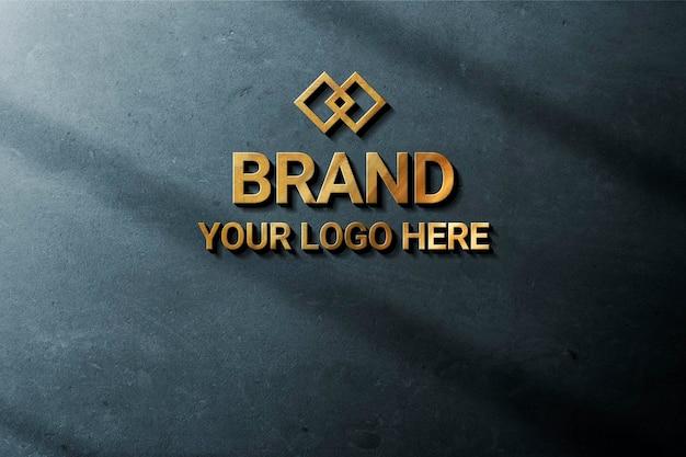 Maqueta de logotipo de pared