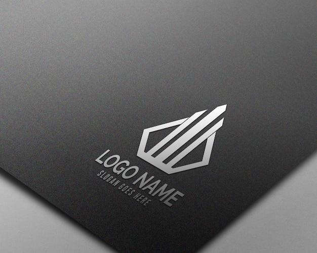 Maqueta de logotipo realista 3d moderna