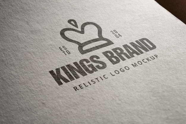Maqueta de logotipo realista