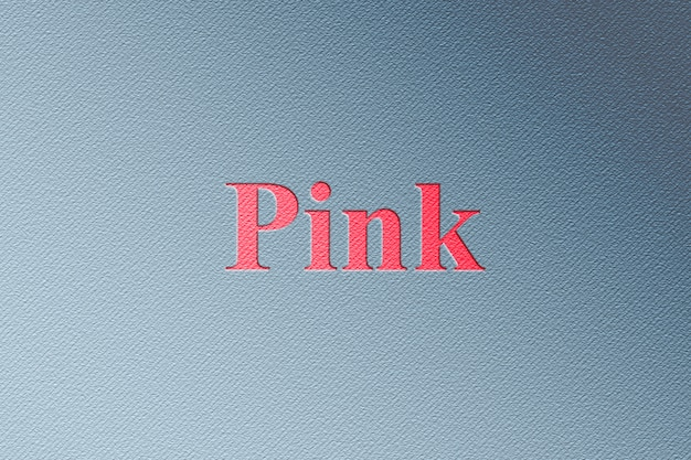 Maqueta de logotipo rosa