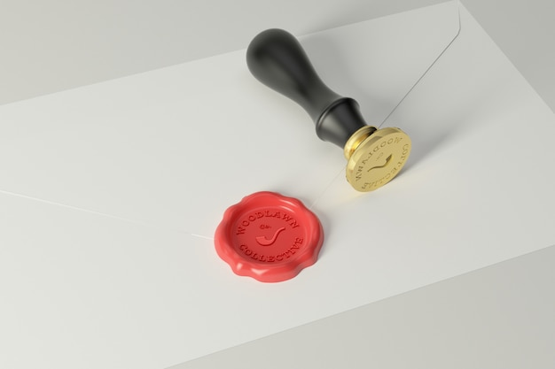 Maqueta de logotipo de sello de cera