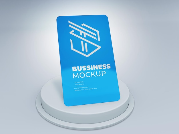 Maqueta de logotipo de tarjeta de plástico