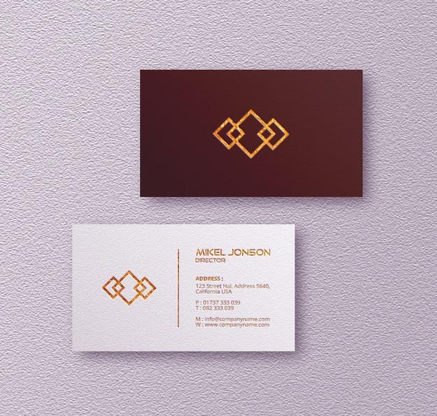 Maqueta de logotipo de tarjetas de visita