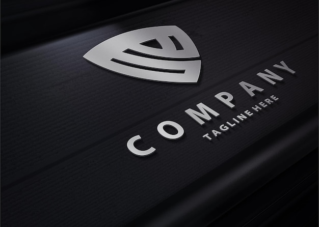 Maqueta de logotipo de tecnología de lujo