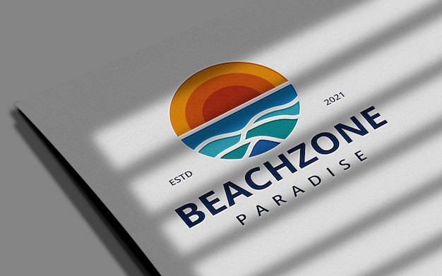 Maqueta de logotipo de tipografía limpia