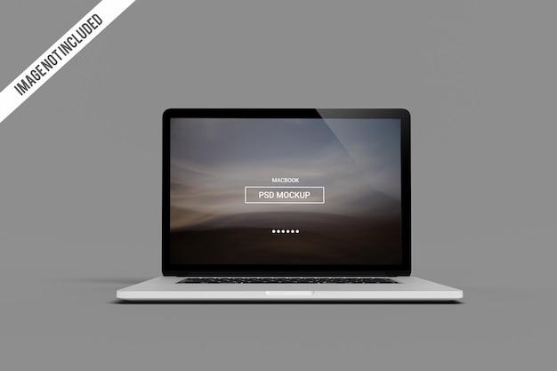 Maqueta de macbook pro