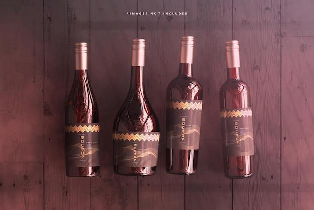 Maqueta de marca de botella de vino