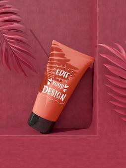 Maqueta de marca de cosméticos. paquete para branding e identidad. listo para tu diseño