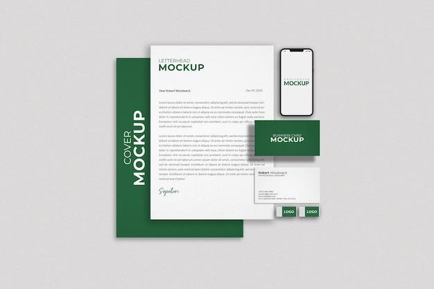 Maqueta de marca de identidad corporativa