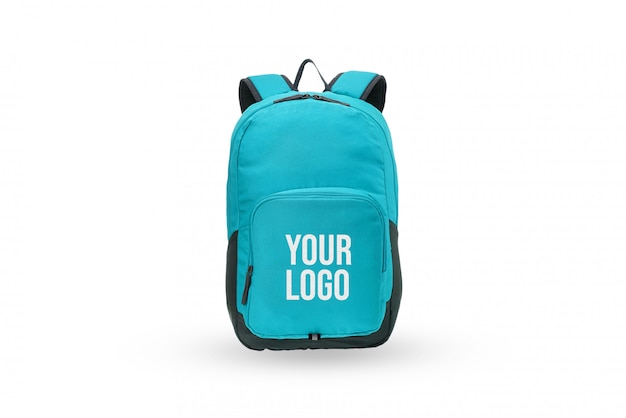 Maqueta de marca con logo de bolso