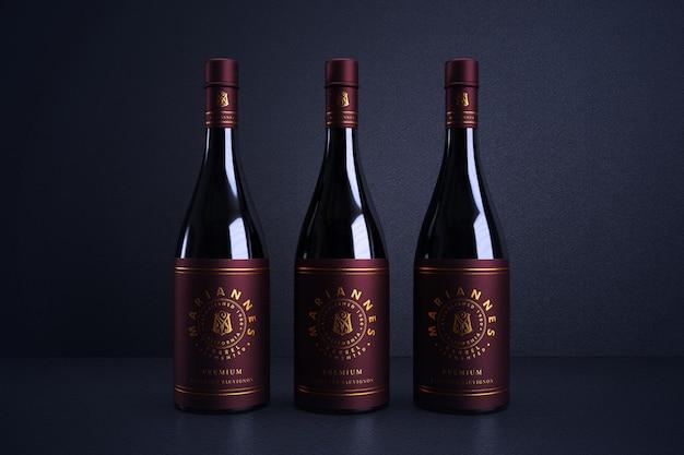 Maqueta de marca de logotipo de vino de lujo
