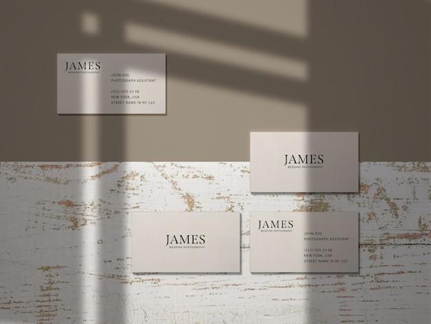 Maqueta de marca de tarjeta de visita