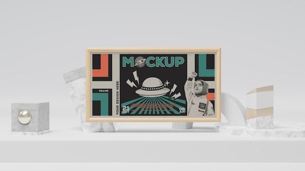Maqueta de marco abstracto vintage