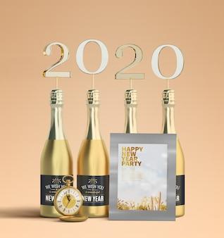 Maqueta de marco de año nuevo 2020