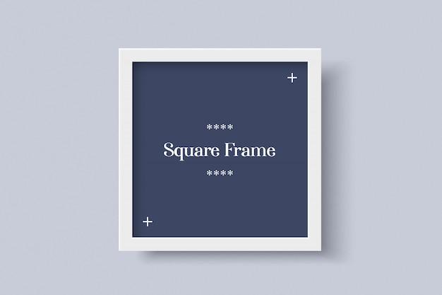 Maqueta de marco cuadrado blanco