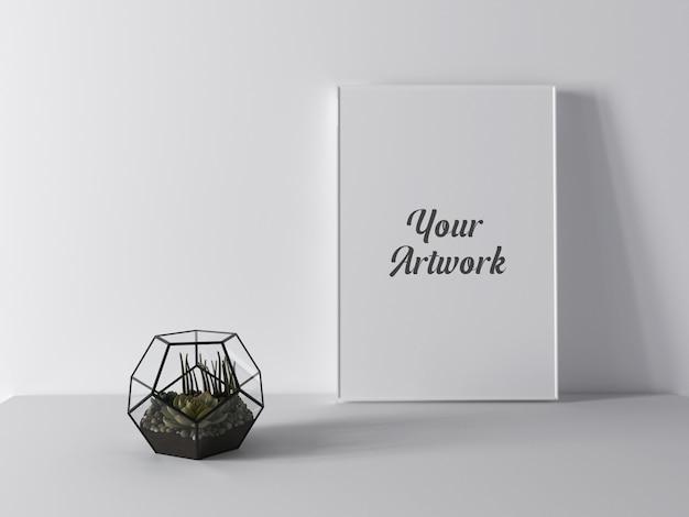 Maqueta de marco decorado