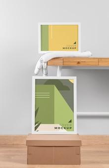 Maqueta de marco de diseño de interiores