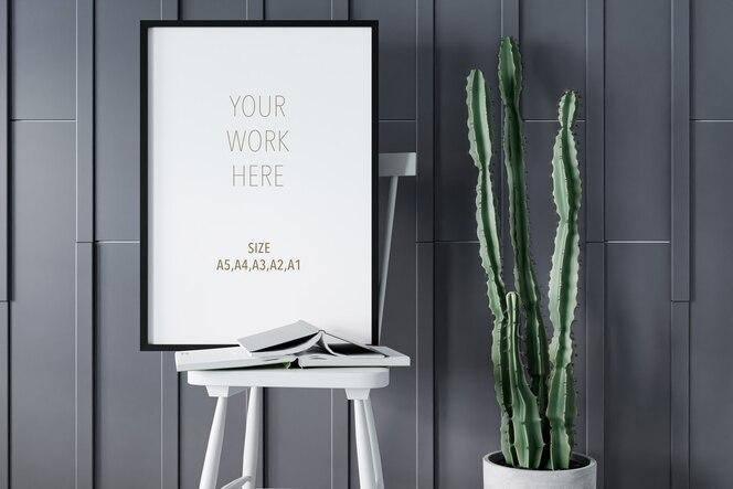 Maqueta de marco de foto o póster