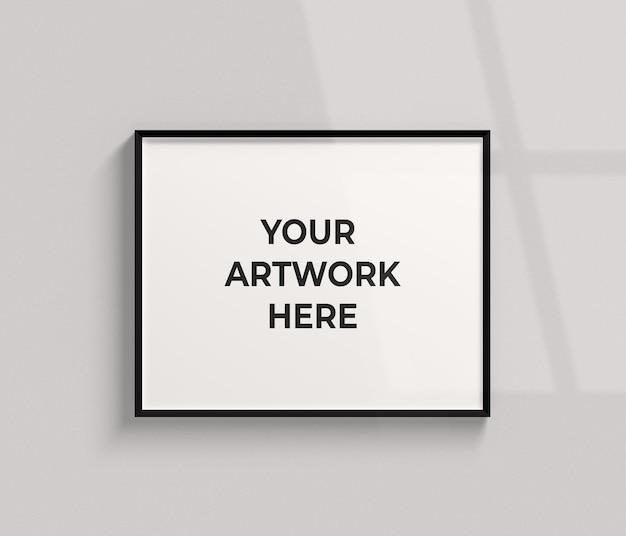 Maqueta de marco de foto de paisaje