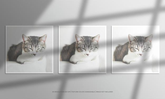 Maqueta de marco de fotos cuadrado