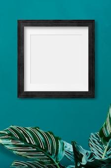 Maqueta de marco de fotos negro