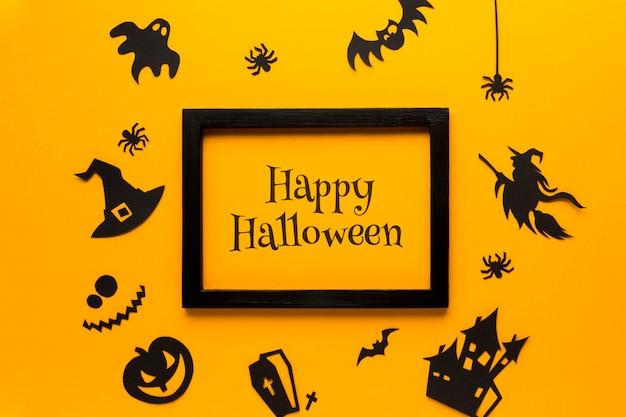 Maqueta y marco con halloween