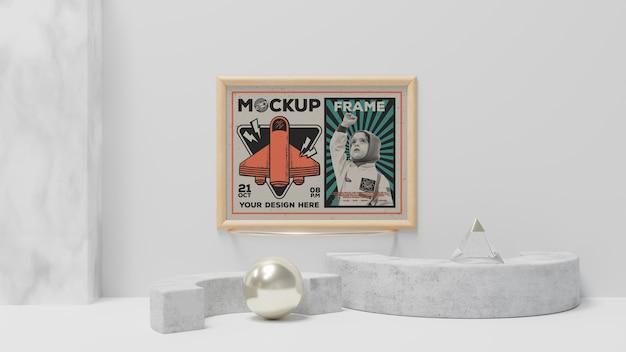 Maqueta de marco de imagen abstracto vintage