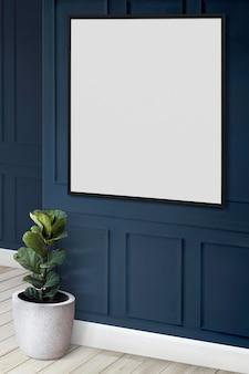 Maqueta de marco de imagen en una pared