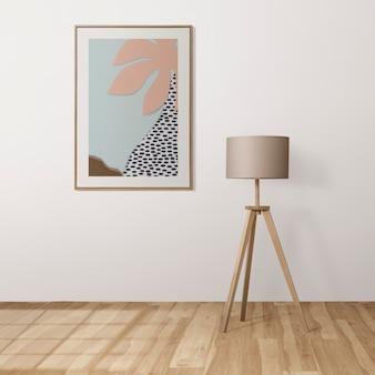 Maqueta de marco de imagen psd con lindo arte de papel