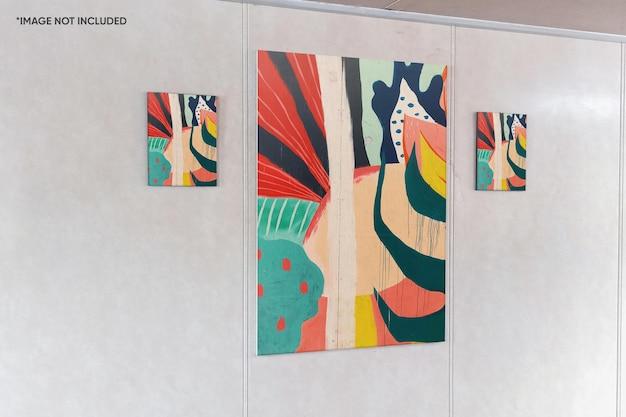 Maqueta de marco de lienzo de pared
