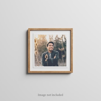 Maqueta de marco de madera