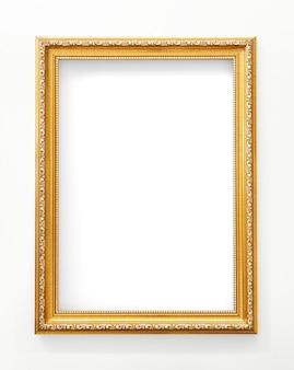 Maqueta de marco de oro