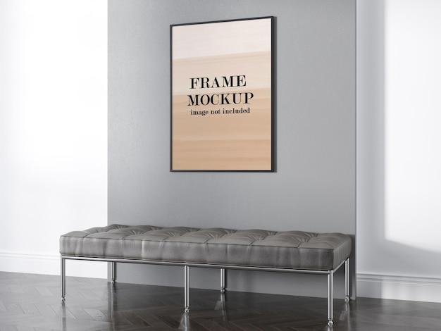 Maqueta de marco de pared para su obra de arte