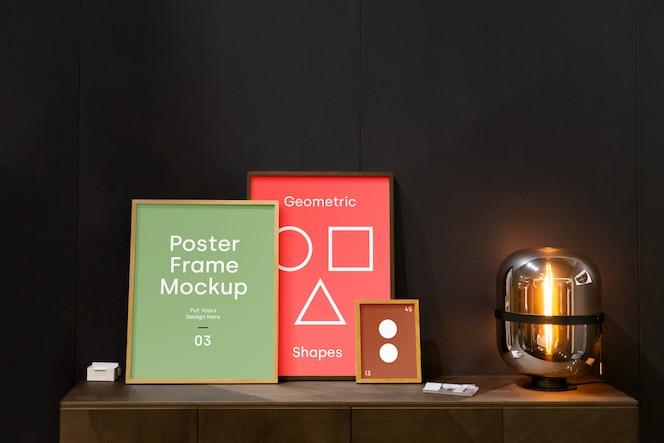 Maqueta de marco de póster