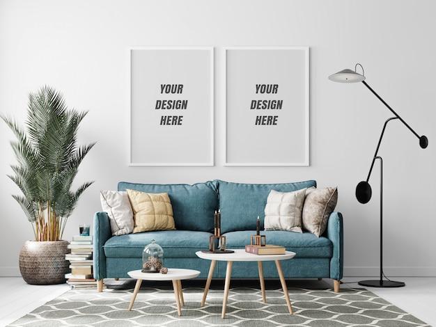 Maqueta de marco de sala de estar interior