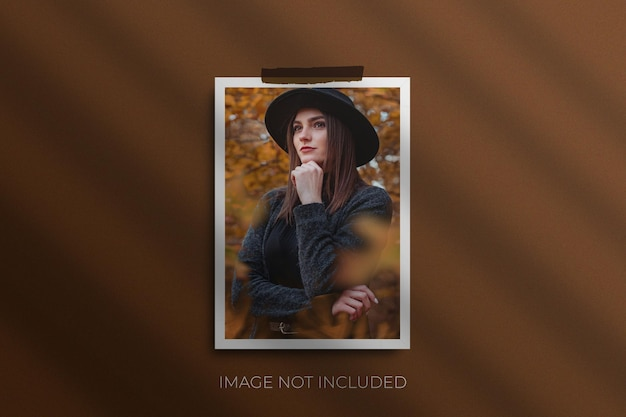 Maqueta de marcos de fotos a4 premium psd