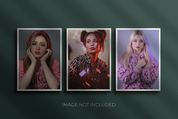 Maqueta de marcos de fotos premium psd